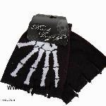 Fingerless skeletton gloves