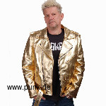 Golden leatherjacket de luxe