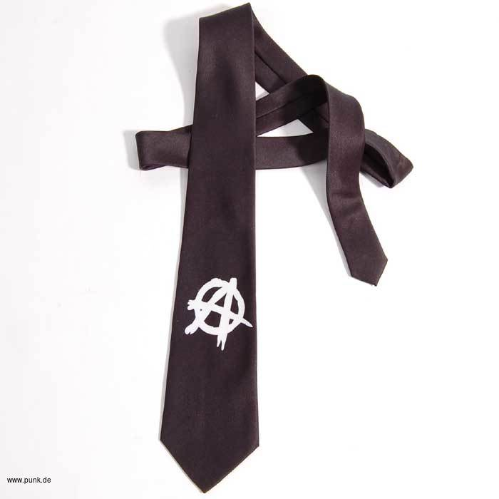 Rock-Krawatte SKULLS schwarz-weiss