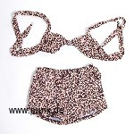 Pin up Leopardenbikini, braun – retro