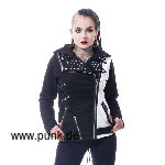 Rockstar jacket, black white