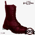 Boots and Braces: Stiefel 10 Loch polido burgundy mit Stahlkappen