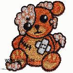 Embroided patch: damaged teddy