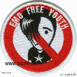 Embroided patch: Emo free youth
