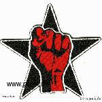 Embroided patch: fist in a star