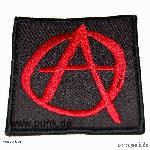 Embroided patch: anarchysign