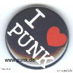 Schwarzer I love Punk - Button