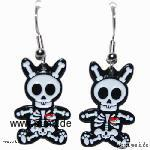 Sexypunk: Earrings with skelettonbunny