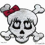 Embroided patch: tattooskull
