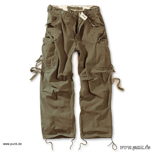 Surplus: Vintage Fatigues Hose in oliv