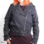 Sexypunk: Girls Denim Jacke im Ramonesstil