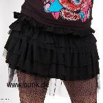 Miniskirt with cover, black