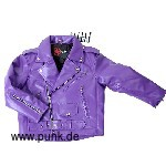 Sexypunk: Kunstlederjacke Johnny, in lila für Kids (vegan)