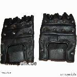 Fingerstall leather-gloves with spikes