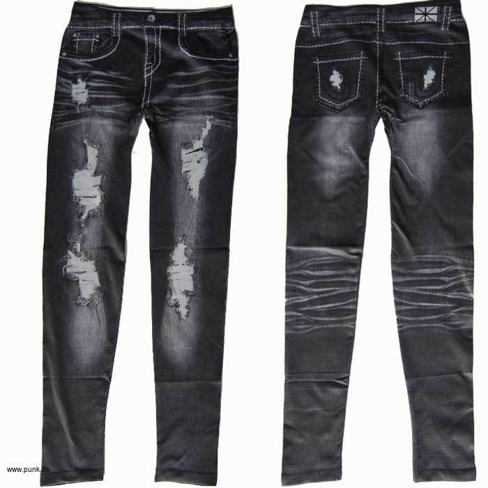 der mailorder f r punk klamotten leggings graue ausgewaschene jeans l cher. Black Bedroom Furniture Sets. Home Design Ideas