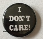 I don't care Button / Badge