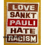 Love St. Pauli - Hate Racism iron on patch