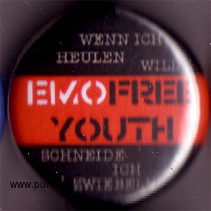 : Emo free youth Button