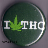 : I love THC Button