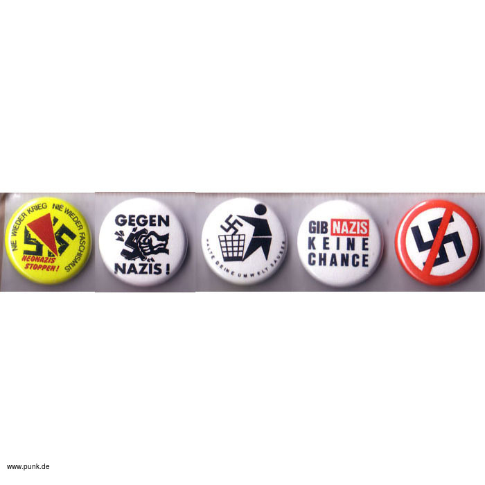 : 5 Antifa Button Set