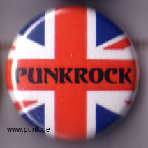 : Punkrock Union Jack Button