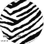 Zebra weiß Button