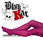 : Black Cat Tights Leopard pink