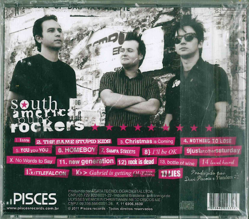 Flanders 72: South American Punk Rockers CD
