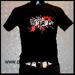 the Bottrops: Punkletter Girlieshirt, schwarz