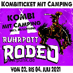 HardTicket Kombi-Ticket inkl. Camping Rodeo 2021
