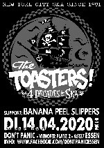 The Toasters + Banana Peel Slippers