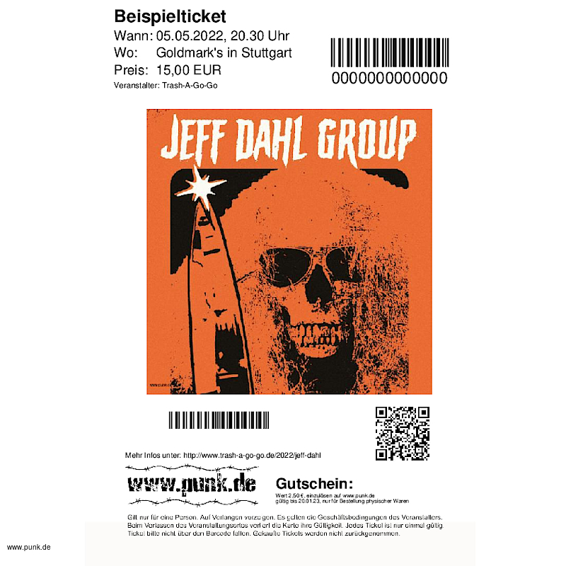 : JEFF DAHL GROUP + Support: THE DAHLITS